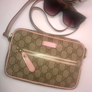 85536f656aba Gucci Bags | Authentic Gg Monogram Beigepink Sling Bag | Poshmark